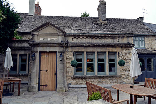 The Railway Inn Pub and Restaurant, Fairford, The Cotswolds.